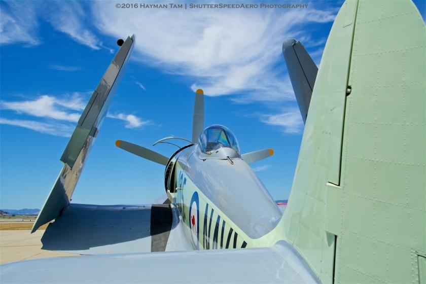 2016 Hollister Airshow,  N260X, 1951 Hawker Sea Fury FB11